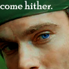 lilyleia78: Close up of Daniel Jackson's face captioned 'come hiter' (SG1: Daniel come hither)