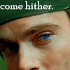 lilyleia78: Close up of Daniel Jackson's face captioned 'come hiter' (SG1: Daniel come hither)