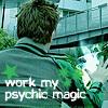 lilyleia78: Bridge using powers captioned work my psychic magic (SPD: Bridge's magic)