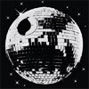 striped: Disco ball Death Star (disco death star)