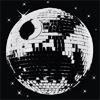 striped: Disco ball Death Star (disco death star)