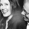 momma: Actors Mary McDonnell and Edward James Olmos in an embrace. Mary has her tongue sticking out. (fan:McD|EJO tongue)