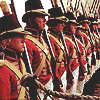sharpiefan: Line of Age of Sail Marines on parade (Sharpe redcoat soldier)