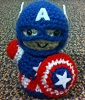 intothespin: knit captain america doll (knit cap)