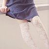 almost: (thigh socks)