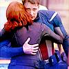 muccamukk: Natasha standing on her toes to hug Steve. (Avengers: -Hugs-)