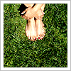 wintercreek: Bare feet in the grass. ([misc] summer is not a season for shoes)