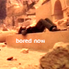 "muccamukk: Vala lying listlessly in the middle of a ruin. Text: ""Bored Now."" (SG-1: Bored Now)"