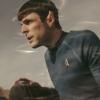 bearisdriving: a screencap of spock transporting onto vulcan from star trek xi (spock transporting)