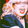 melissima: Kirstin Vangsness A.K.A. Penelope Garcia of Criminal Minds, laughing, wearing glasses, a dark blue blouse, and red lips. (Garcia Laughs)