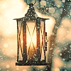 dapatty: A lantern, lit up with faint snow. (lantern)