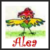 aleabeth: (alea red headed bird)