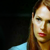 skieswideopen: Grace Van Pelt from The Mentalist against a black background (Mentalist: Van Pelt serious)