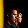 skieswideopen: Sam Carter and Cameron Mitchell from Stargate SG-1 (SG: Sam & Cam yellow)