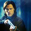 skieswideopen: Sam Winchester aiming a gun (SPN: Sam)
