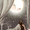persephoneia: illustration of girl gazing up at moon (Default)