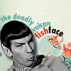 xenylamine: (star trek - spock's fish face)