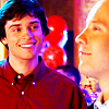 virginiahotchner: Clark & Lex smiling and in love! (rapture, supermen in love, smallville, dreamy smiles, clex)