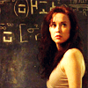 joyfulfeather: Chloe from SGU in front of a wall with equations (Default)