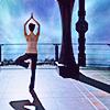 joyfulfeather: Chloe from SGU doing yoga (tree pose) (Chloe - Yoga)