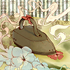 """opoponax: An old-fashioned iron """"pressing"""" a flower (0)"""