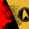 skywaterblue: This is a bright primary color picture of Uhura from Star Trek (Nyota Uhura)