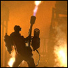 chaobell: Pyro taking a walk, firing flamethrower into the air just because. (pic#)