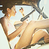 excelsis: stock of girl in her car, smoking and holding a gun (» girls with guns (we lock and load))