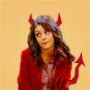 "excelsis: that 70's show's jackie looking impish, devil horns on her (☮ ""but she's evil man!)"