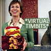 monksandbones: Anna from Slings and Arrows holding boxes of Tim Hortons donuts and timbits. Caption: *virtual timbits* (virtual timbits!)