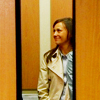 aphrodite_mine: woman in a closing elevator (office - elevator love)