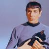 eruthros: ST: TOS, Spock holding a kitten (ST: TOS - Spock and kitten)