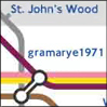 gramarye1971: close-up Tube map of London, with Baker Street replaced by gramarye1971 (Zone 1)