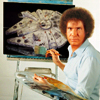 van: han solo as bob ross (star wars han ross)