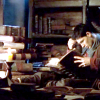 januar: Merlin from BBC Merlin surrounded by books ([merlin] merlin)