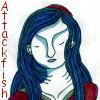 "attackfish: Yshre girl wearing a kippah, text ""Attackfish"" (Default)"