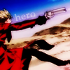 dangermousie: (Anime: Trigun Vash bero by howdyrockerba)