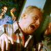 bitca: Simon Pegg spooked in Spaced (spaced; ahh! fake monsters)
