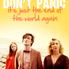 sonicanomaly: (Don't panic!, Doctor Who: RAD - end of world (again), Doctor Who: RAD - don't panic)
