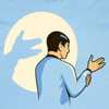 tamarillow: Spock is making a shadow puppet (spock shadowpuppet)