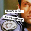 sesquipedaliatic: Grouchy Daniel finds sand in his toothbrush (Sand and toothbrushes do not mix)