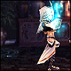fallen_stage: Kuja with his arm upraised, hand glowing blue with magic (How infinite in faculty)