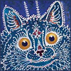 grackle: painting of blue cat by Louis Wain (cat all mad here)