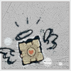 mizaya: ([ portal ] companion cube)