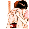 bell: Two characters from Fruits Basket hug each other (fb hug)