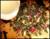 pallidbat: A pile of loose tea around a teacup. (White tea)
