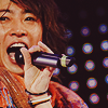 tani: Aiba, the beaming superstar, as he sings into the microphone (aiba)