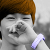 dbsj: onew covering his mouth, colored partially (onew)