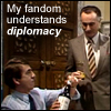 "gramarye1971: Jim Hacker about to receive some illegal alcohol in ""The Moral Dimension"" (YM: Diplomacy)"