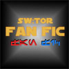 "virtualvoyages: The words ""SW:TOR Fan Fic"" on a starburst background (Fan fic)"